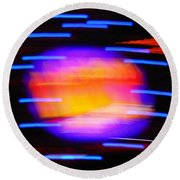 Super Nova Round Beach Towel