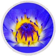 Blue Brilliance Number Two Round Beach Towel
