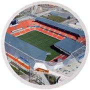 Bbva Compass Stadium In Houston Round Beach Towel