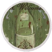 Be Our Guest Round Beach Towel