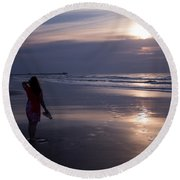 Be Still My Soul Round Beach Towel