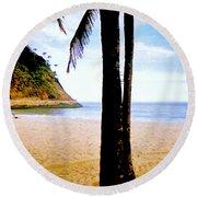 Beach At Ipanema - 2 Round Beach Towel
