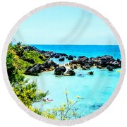 Beach At St. George Bermuda Round Beach Towel
