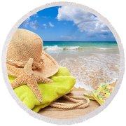 Beach Bag With Sun Hat Round Beach Towel