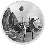 Beach Ball Dancing Round Beach Towel