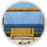 Beach Bench Round Beach Towel