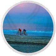 Beach Biking  Round Beach Towel
