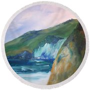 Beach California Round Beach Towel