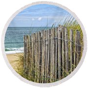 Beach Fence Round Beach Towel