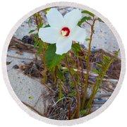 Beach Flower Round Beach Towel