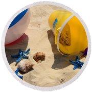 Beach Fun Round Beach Towel