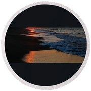 Beach Glow Round Beach Towel