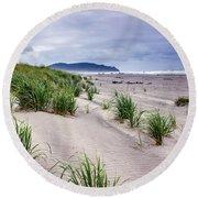 Beach Grass Round Beach Towel by Robert Bales