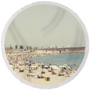 Beach Holiday Round Beach Towel