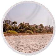 Beach Homes Round Beach Towel