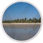 Beach In Goa Round Beach Towel