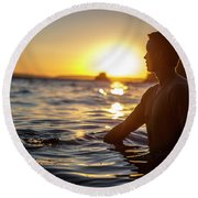 Beach Lifestyle Round Beach Towel