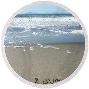 Beach Love Round Beach Towel