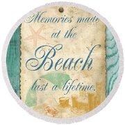 Beach Notes-a Round Beach Towel