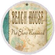 Beach Notes-d Round Beach Towel