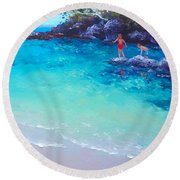 Beach Painting - A Day To Remember Round Beach Towel