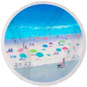 Beach Painting - Happy Days Round Beach Towel