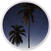 Beach Palms Round Beach Towel