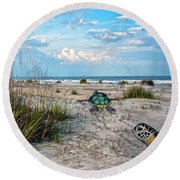 Beach Pals Round Beach Towel by Betsy Knapp