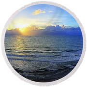 Beach Panorama Round Beach Towel