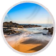 Beach Paradise - Beautiful And Secluded Secret Beach In Maui. Round Beach Towel