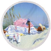 Beach Recliner Round Beach Towel
