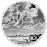 Beach Riders Round Beach Towel