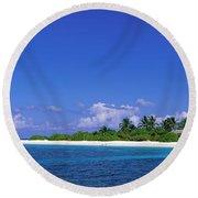 Beach Scene Maldives Round Beach Towel