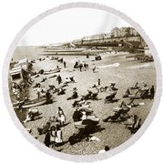 Beach Sean France  Circa 1900 Round Beach Towel