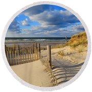 Beach Shadows  Round Beach Towel