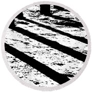 Beach Shadows Round Beach Towel