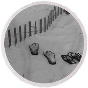 Beach Shoes Round Beach Towel