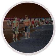 Beach Solar Series Vii Usa Round Beach Towel