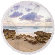 Beach Sunrise At Jupiter Island Florida Round Beach Towel
