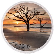 Awakening - Beach Sunrise Round Beach Towel