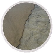 Beach Texture Round Beach Towel