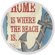 Beach Time 2 Round Beach Towel