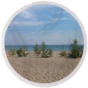 Beach Trees Round Beach Towel