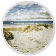 Beach View Round Beach Towel