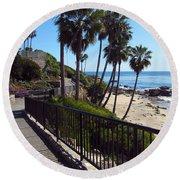 Beach Walkway Round Beach Towel
