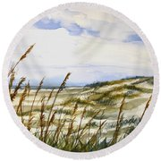 Beach Watercolor 3-19-12 Julianne Felton Round Beach Towel