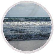 Beach Waves 2 Round Beach Towel