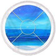 Beach Window Round Beach Towel