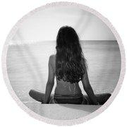 Beach Yoga Round Beach Towel