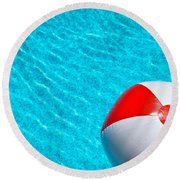 Beachball 1 Round Beach Towel